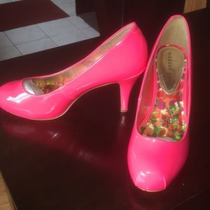 Hot Pink Madden Girl High Heels with box